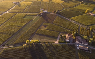 Winery Chateau Arnaud de Jacquemeau (aerial shot)