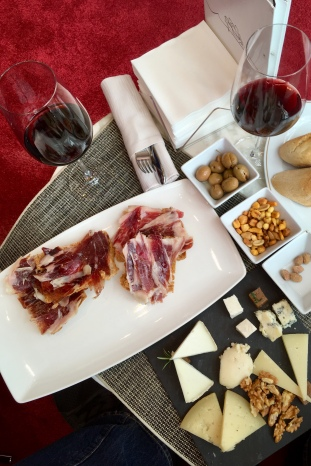 Snack at Bodega Marques de Riscal