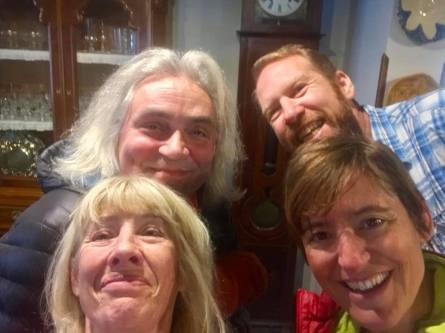 Happy encounter with Geraldine and Martin from WFH (selfie by Geraldine)