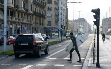 Street life in San Sebastian