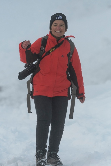 Isabel prepared for all weather conditions ;-)