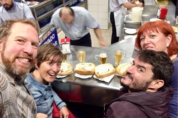 A calamares feast with Marisa and David