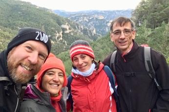 "Marta, Dani, Isabel and Christian starting the ""moderate"" hike"