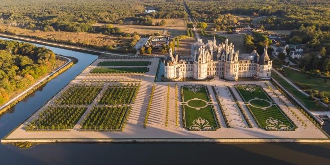 Chambord castle (aerial shot)