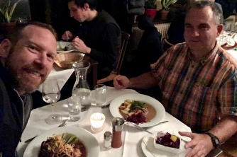 Dinner with my friend Gunter in Vienna