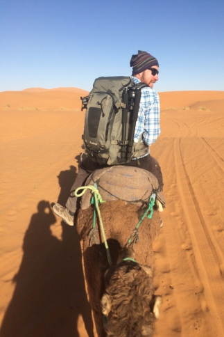 Christian on the Sahara Camel Trek