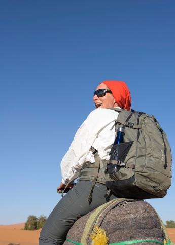 Isabel on the Sahara Camel Trek