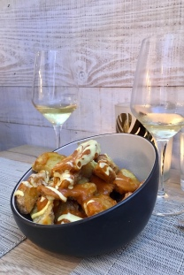 Bubbly & Patatas Bravas with a twist