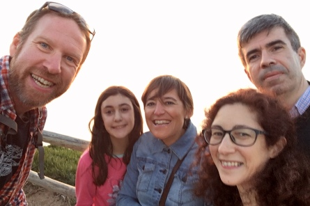 With Alfredo, Cristina and Teresa at Cabo da Roca