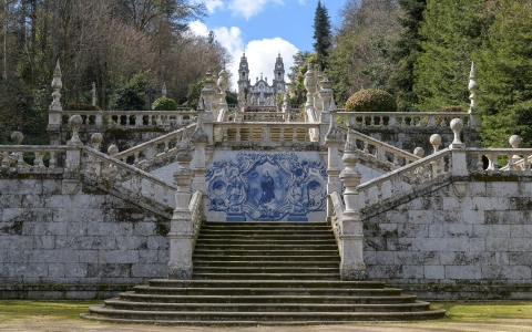 Stairs to Nossa Senhora dos Remedios Church