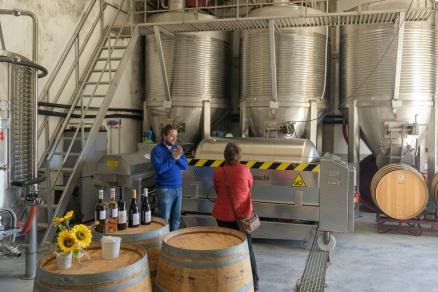 Jose explaining the wine making process