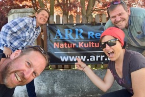 With Rainer and Christine at the ARR office