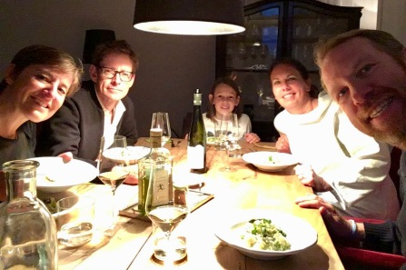 Dinner with Christof, Alice and Tim