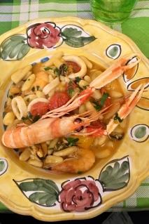 Isabel's favorite seafood pasta