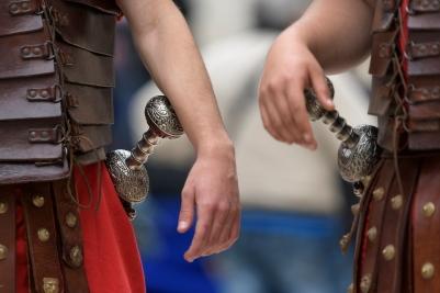 Roman soldiers in Split
