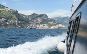 Boat ride to Amalfi